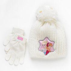 Disney Frozen Elsa & Anna Knit Hat & Glove Set #Kohls