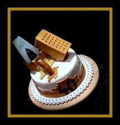 for a builder Modeling, Birthday Cake, Desserts, Food, Tailgate Desserts, Deserts, Modeling Photography, Birthday Cakes, Essen