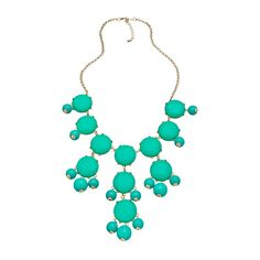 Blu Bijoux Gold and Turquoise Bubble Bib Necklace ($32) ❤ liked on Polyvore