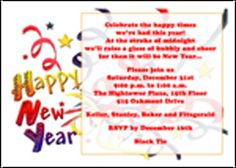 customize your exclusive and free new years invitations wording with most popular and unique discounted invitations for new years eve day celebrations