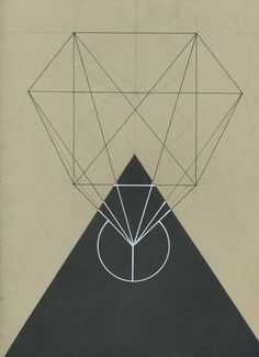 Sacred Geometry, black and white illustration