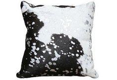 Splash Hide Pillow, Black/White