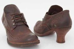 Neosen Womens Brown Leather Vintage Heeled Brogues 8: Amazon.co.uk: Shoes & Bags