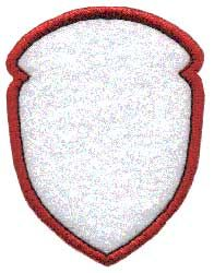 Badge Applique, shield 5. Badge or border element to use stand-alone or as accents to other designs or monograms.