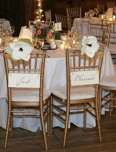 """Bride"" & ""Groom"" chair signs « Weddingbee Boards"