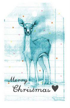 FREE printable deer gift tags // Violet Lake