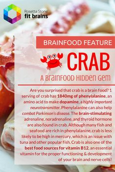 A hidden brainfood gem...crab! Eat up! #health #brain #diet #food