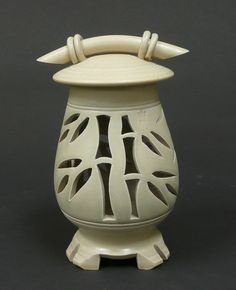 Ceramic Tea Light Lantern by Chehalemmtnpottery