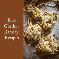 Enjoy these Gordon Ramsay recipes that you can do yourself! Gordon Ramsay Pasta Recipes, Gordon Ramsay Home Cooking, Pastry Recipes, Chef Recipes, Cooking Recipes, Healthy Recipes, Healthy Food, Cooking Food, Scottish Recipes