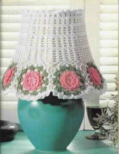Abażury - Urszula Niziołek - Álbuns da web do Picasa. Lampshades,diagrams,and some written patterns! Lace Lampshade, Crochet Lampshade, Lampshade Designs, Crochet Doilies, Lampshades, Lace Patterns, Knitting Patterns, Crochet Patterns, Crochet Home Decor