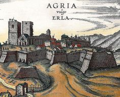 fortress of Eger in the century North Africa, 16th Century, African Art, Landscape Paintings, Countryside, Vintage World Maps, Europe, Marvel, History