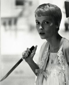 Mia Farrow in Polanski's classic horror movie Rosemary's Baby.