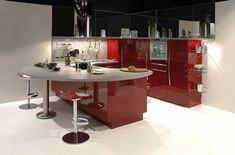 Cucina rossa moderna 21