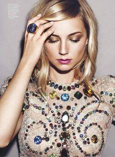 Emily Van Camp in Dolce & Gabbana s/s 2012