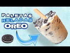 Paletas Heladas OREO por Georgio OREO POPSICLES paletas de hielo Cream And Fudge, Ice Cream, Ice Pops, Frozen Treats, Popsicles, Cooking Recipes, Favorite Recipes, Healthy, Sweets