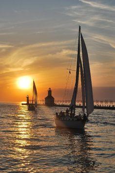 *Sunset Lighthouse - St. Joseph, Michigan