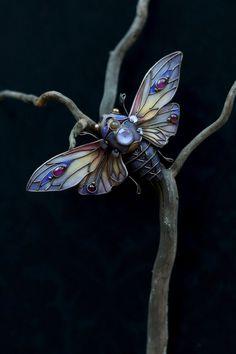 Fantasy Jewelry, Jewelry Art, Fantasy Art, Jewelry Design, Unique Jewelry, Vintage Jewelry, Jewellery, Light Amethyst, Butterfly Wings