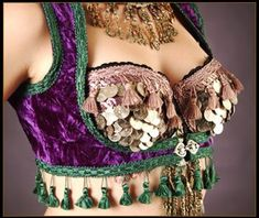Tribal Belly Dance Bra with Jacket