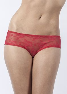 40016 Brigitte Low-Rise Sheer European Lace Hipster by Bra Doctor Lingerie