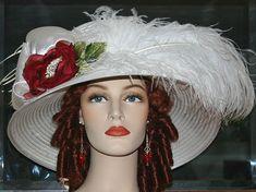 4e186f7f56f Kentucky Derby Hat Edwardian Hat Ivory Tea Hat by darnasderbyhats
