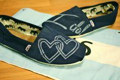 Wedding TOMS Shoes. $73.00, via Etsy.