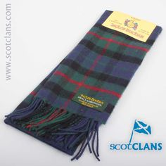 Gunn Tartan Lambswool Scarf. Free worldwide shipping available