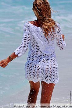 "Похожее изображение ""Free Crochet Pattern for Stunning Summer Tunic - Famous Design Decrypted"", ""Queen of the Beach - crochet túnica"" Crochet Beach Dress, Crochet Cardigan, Crochet Bikini, Dress Beach, Crochet Summer, Crochet Dresses, Crochet Shawl, Moda Crochet, Free Crochet"