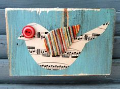 ART...Love this little mixed media bird.