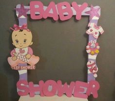 Trendy baby shower ideas for girs decorations decor photo booths Ideas Baby Shower Frame, Unisex Baby Shower, Baby Shower Photo Booth, Shower Bebe, Baby Shower Photos, Baby Boy Shower, Fiesta Baby Shower, Baby Shower Favors, Baby Shower Themes