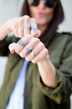 #PANDORAloves blogger Maria Guedes of Stylista's cool ring style.