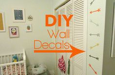 DIY Washi Tape Arrow Wall Decals this is EXACTLY what I was looking for for the boys bathroom .... Perfect and great tutorial !