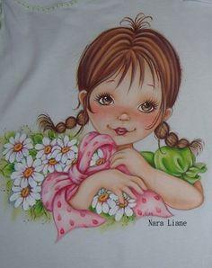 Pintura menina -  Nara Liane