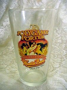 Pint Glass Polygamy Porter Wasatch Beers Park City Utah Bring Some Home To Wives