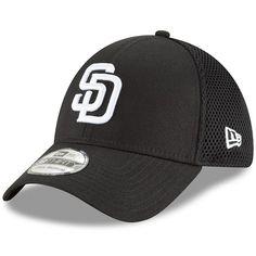 f8fecf5e72506 San Diego Padres New Era Neo 39THIRTY Unstructured Flex Hat Black   SanDiegoPadres