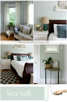 Our House: Modern Farmhouse Paint Colors. Sherwin Williams Sea Salt
