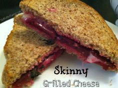 Grilled cheese sandwich with sliced beets and Mini Babybel Light  Interesting