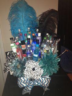 birthday present so cute! 21st Birthday Presents, Birthday Bash, Girl Birthday, Birthday Parties, Birthday Gifts, Happy Birthday, 21st Bday Ideas, Birthday Ideas, Mini Liquor Bottles
