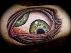 Crazy eye tattoo by Dave @ preyingmantistattoo.com  Colorado