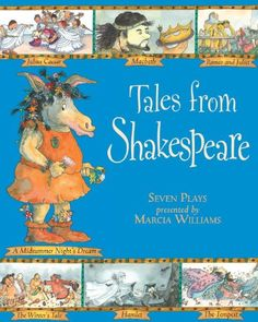 Tales from Shakespeare by Marcia Williams http://www.amazon.com/dp/0763623237/ref=cm_sw_r_pi_dp_B0Faub0WAP1Q8