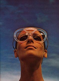 Bill Silano for Harper's Bazaar, 1968. Sunglasses After  Dark.....