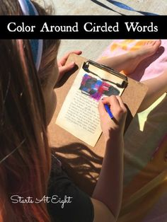Blackout Poetry: Color Around Circled Words