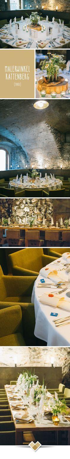 Der Malerwinkel Rattenberg verbindet den mittelalterlichen Charme der kleinsten Stadt Österreichs mit der Architektur des 21. Jahrhunderts. Für die Hochzeitsfeier ist der Malerwinkel idea: Mit der Kirche direkt neben dem Festsaal, der Möglichkeit zur standesamtlichen Trauung im Haus und der atemberaubenden Dachterrasse für den Sektempfang. Bilder: http://www.formafoto.net/