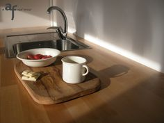 Agaf Design White Chocolate Porcelain pieces in the kitchen