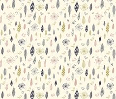 birds and feathers fabric by liz-adams on Spoonflower - custom fabric