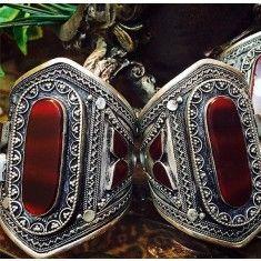 Afghan Tribal Kuchi Bracelet - Cuff Natural Gemstones, Rocks, Minerals and Jewelry Bangle Bracelets, Bangles, Gypsy Bracelet, Tribal Jewelry, Tribal Art, Handmade Crafts, Natural Gemstones, Minerals, Folk