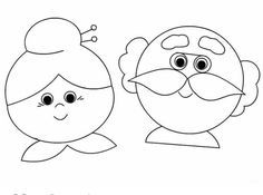 Coloring Book: Grandpa and grandma coloring pages Grandparents Day Crafts, Mothers Day Crafts, Preschool Painting, Preschool Crafts, Diy For Kids, Crafts For Kids, Coloring Books, Coloring Pages, Coloring Sheets