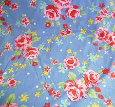 Sweet Chic Floral in Slate Blue  £5.00/metre #fabric #sewing #natural #cotton #creative #craft