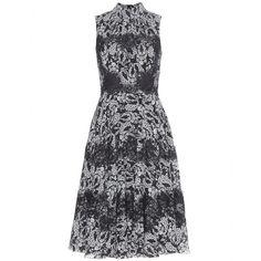 DOLCE & GABBANA Lace-trimmed printed silk dress