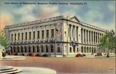 Free Library Of Philadelphia, Benjamin Franklin Parkway. One of my favorite places in the world!