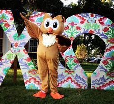 In case the world was wondering...THIS IS ME! As in I am in that owl suit.